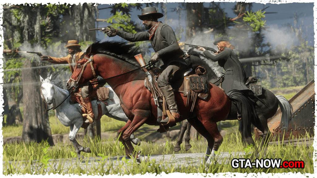 Стрельба на лошади